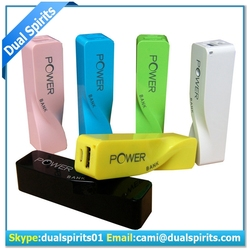 2015 different colorful perfume power bank,mobile powerbank ,China supplier 2600 portable power bank
