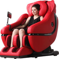 2015 latest massage recliner chair with 3D zero gravity, full body air pressure massage, heating, music, blood circulation