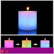 Wax led candle for wedding favor /real wax led candle with color change