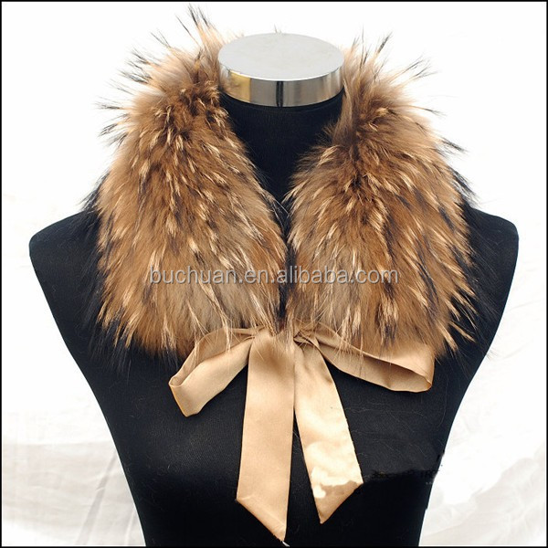 2016 Long Hair Genuine Colorful Faux Raccoon Fur Trim in Animal Fur