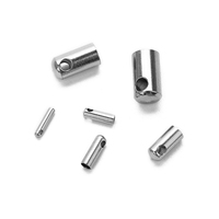 1mm 1.5mm 2mm 3mm 4mm 5mm stainless steel tube end cap jewelry findings cord end caps