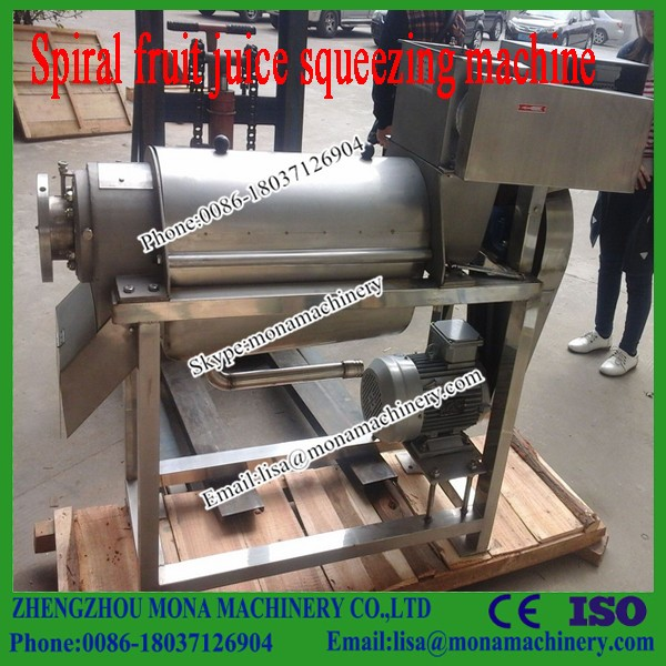 Double screw fruit commercial juice extractor