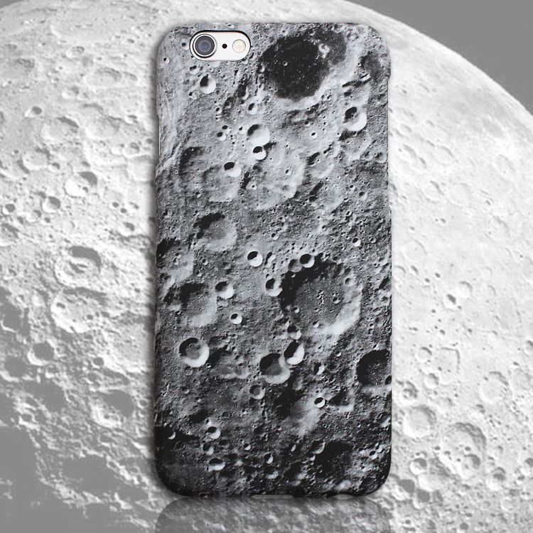 Summer Hot selling 3D design moon surface hard PC mobile phone cover case for iPhone 6\6s, for iphone