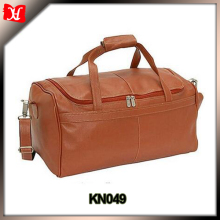 mens leather travel holdall bag leather duffle bag