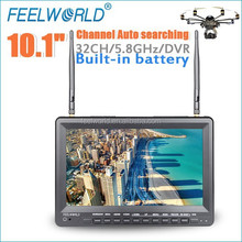 10.1 inch diversity receiver fpv quadcopter monitor model toys with hdmi