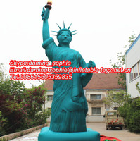 Promotional Inflatable Statue of Liberty Cartoon, New Design Inflatable Statue of Liberty