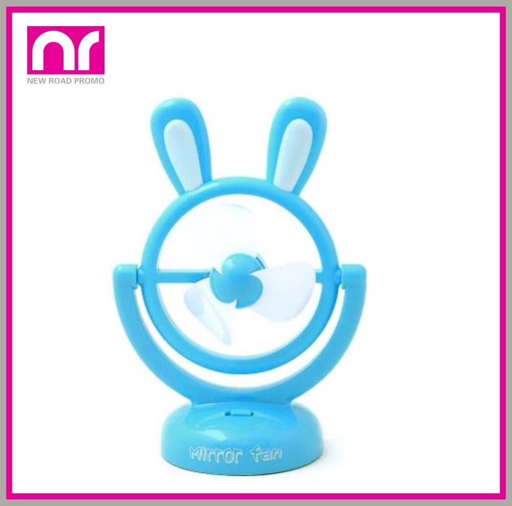 Wholesale Plastic Portable Mini USB Fan Rechargeable USB Electric Fan Cooling USB Fan With Rabbit Ears