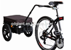90kg capacity bicycle trailer with plastic basket TC2025