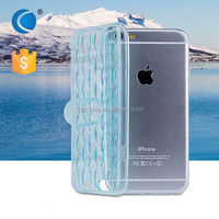 Transparent Crystal Clear TPU cell phone case mobile phone case material plastic for iphone 6 plus case