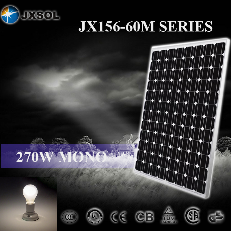 best price 270w mono silicon china made home used solar panel for hot sale