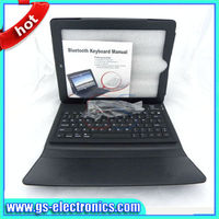Wireless bluetooth keyboard for ipad2/3 leather case