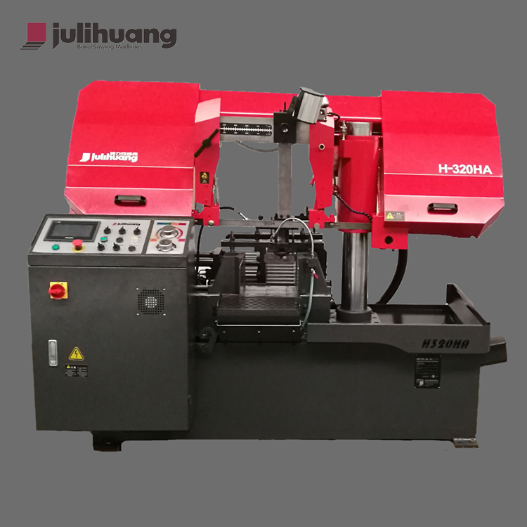 High Quality JULIHUANG Automatic OEM/ODM Industrial Iron Metal Steel Cutting Custom CE ISO Horizontal CNC Band Sawing Machine