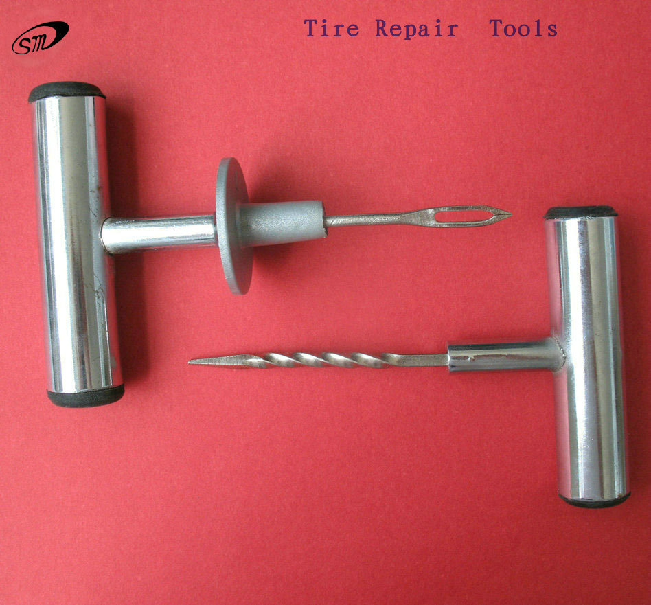 tire repair tool with put tire seal inside