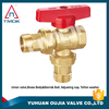 euro brass ball valve angle valve gas control valve polishing full port PPR and DN40 PN16 with forged female thraeded