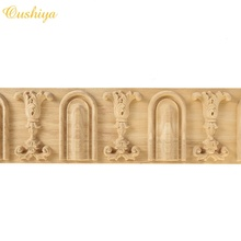 antique italian style flower roman arch chain band carved wood <strong>moulding</strong> for interior decoration
