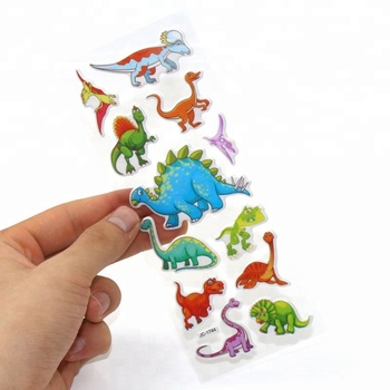 CherryTrendy Dino Sticker For Kids Party 3D Dinosaur Bubble Sticker