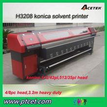 Competitive price industrial digital flex solvent inkjet printer/printing machines with konica minolta 512 head in China