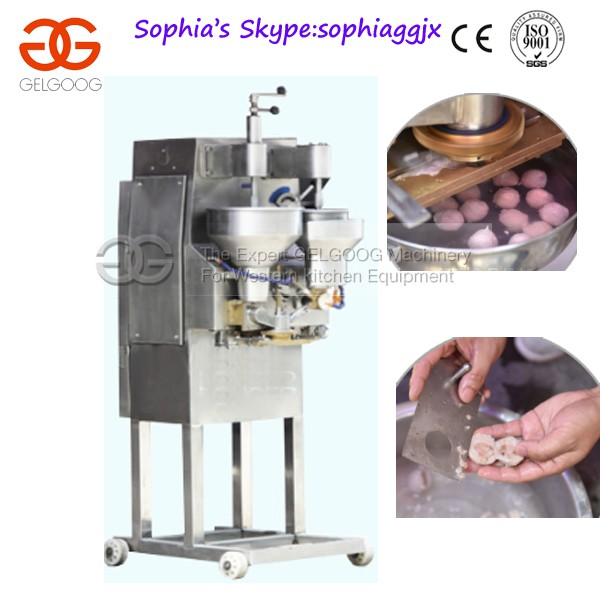 Shrimp Balls Forming Machine|Stuffed Meatball Form Equipment|Stuffing Fish Ball Making Machinery