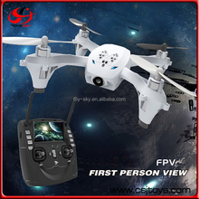 High Quality 2.4G FPV rc camera helicopter drone with 4.3 inch lcd screen.
