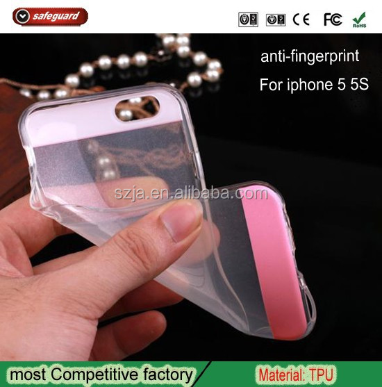 Watermark resistant anti-fingerprint ultra thin Transparent phone case for iphone 5 cheap mobile cases