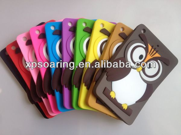 Smart Owl silicone case back cover for ipad mini