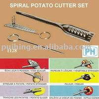 Stainless Steel Multi-purpose Peeler and Spiral Potato Cutter Set