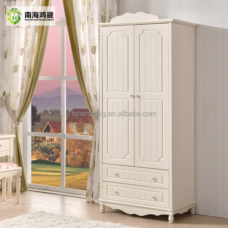 enfants 2 porte en bois blanc petit petite armoire armoire garde robe garde robe id de produit. Black Bedroom Furniture Sets. Home Design Ideas