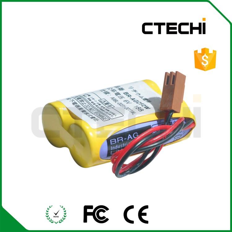 6v 2200mAh PLC battery BR-AGCF2W