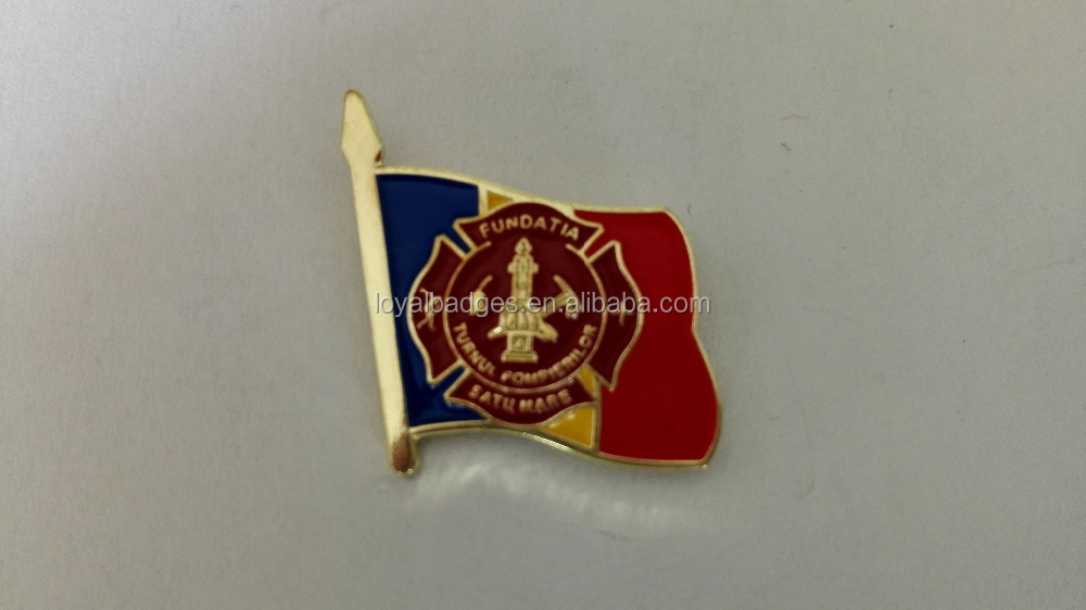 Custom cheap metal single flag pin badge
