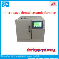 LCD display fast speed microwave dental ceramic sintering furnace for denture crowns and bridges