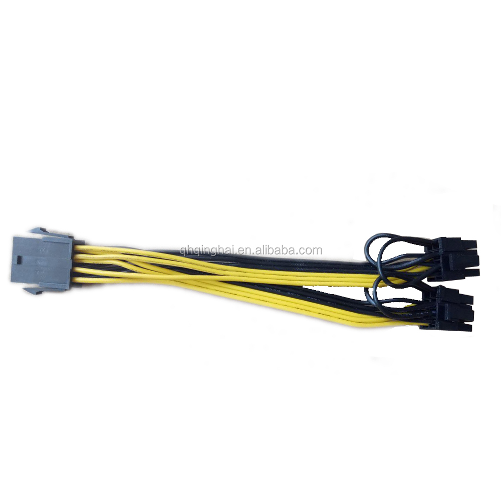 CPU 8Pin to Graphics Video Card Double PCI-E PCIe 8Pin Power Supply Splitter Cable