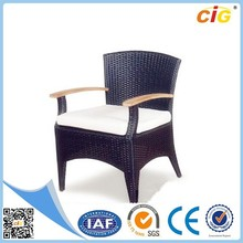 Outdoor rattan garden furniture with waterproof mattress covers