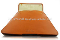 ANU W660 English Bridle Leather Case Sleeve for iPad Air & for iPad 2/3/4 - Tan *Handmade in England