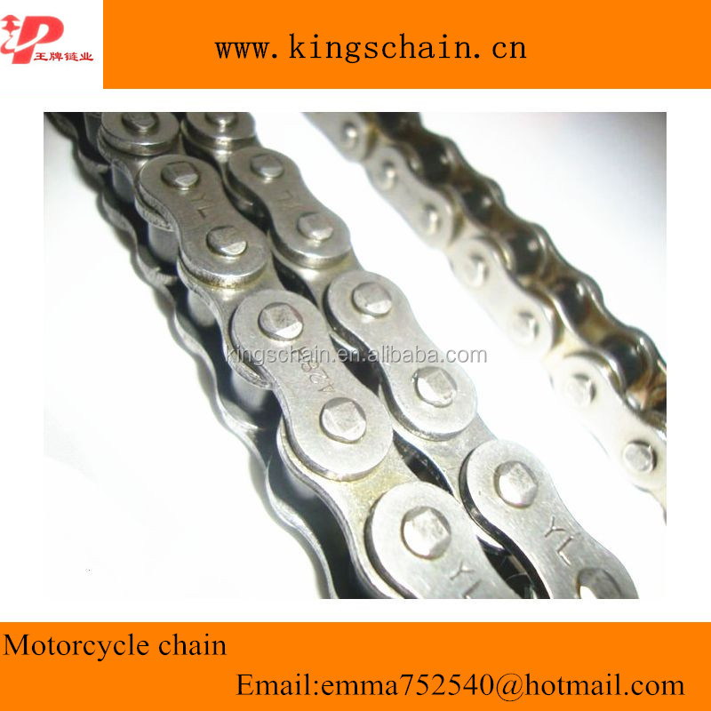 Natural color 428H chain thickness 2mm for motorbike