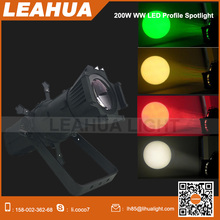 LED ellipsoidal light 200W RGBW led Leko light with manual zoom