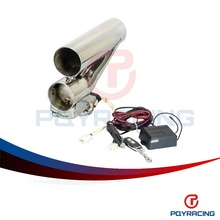 "PQY RACING- 3"" 76mm Exhaust Downpipe Testpipe Catback E Electric Exhaust Cutout kit with Remote 3inch PQY-CT94-30"