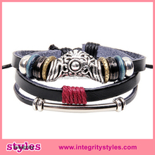 2015 Wholesale Italian Mens Leather Bracelets