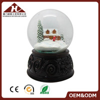 factory water globe with blowing snow blower