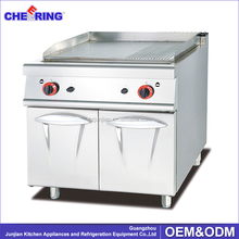 Gas Griddle With Cabinet (2/3 Flat & 1/3 Grooved)