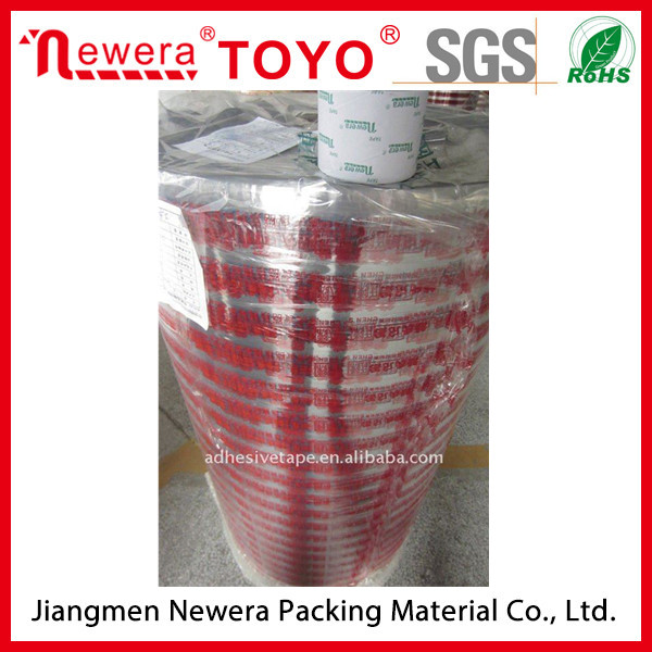 ISO9001 certificate Colored bopp printed jumbo roll tapes with printing logo