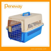 Hot Selling Plastic Pet Dog Crate With Wheels And Handle For Dog And Cat