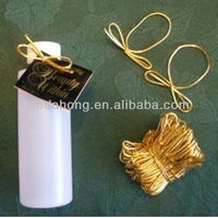 Gold elastic gift packing bow