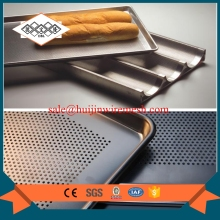 non stick coating perforated baguette pan french bread optional size