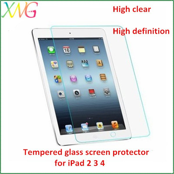 XWG factory wholesale quality tempered glass screen guard for iPad mini screen protection,high clear 9H 0.33mm 2.5D round edge
