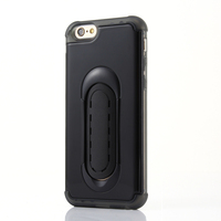 Fancy car phone back cover with stand for iphone armor case pc tpu