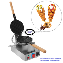 Rotating Stainless Steel Non-stick Electric Hongkong QQ Eggettes Egg Cake Maker Egg Puff Bubble Waffle Baker