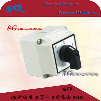 LW26 Rotary Switch cam selector changeover transfer manual 1-0-2 waterproof outside