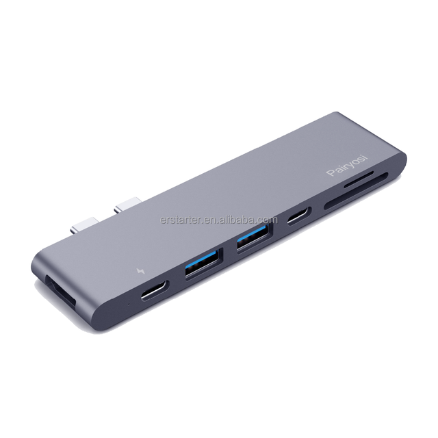 Type C USB 3.0 Mini Dock with Hub HD MI Card Reader and Power Delivery CE FCC Fully Certified