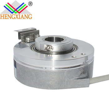 Hengxiang china encoder K76 hollow shaft angle sensor high resolution ABZ phase,PNP output