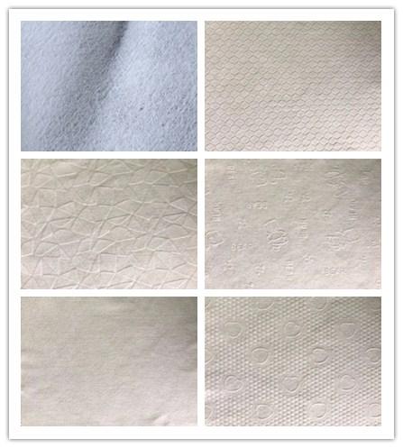 병렬 엠보싱 100% Polyester Fabric 롤 스펀 레이스 비 짠 Manufacturer 대 한 일회용 Mop From China